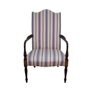 Quality Solid Mahogany Sheraton Lolling Arm Chair