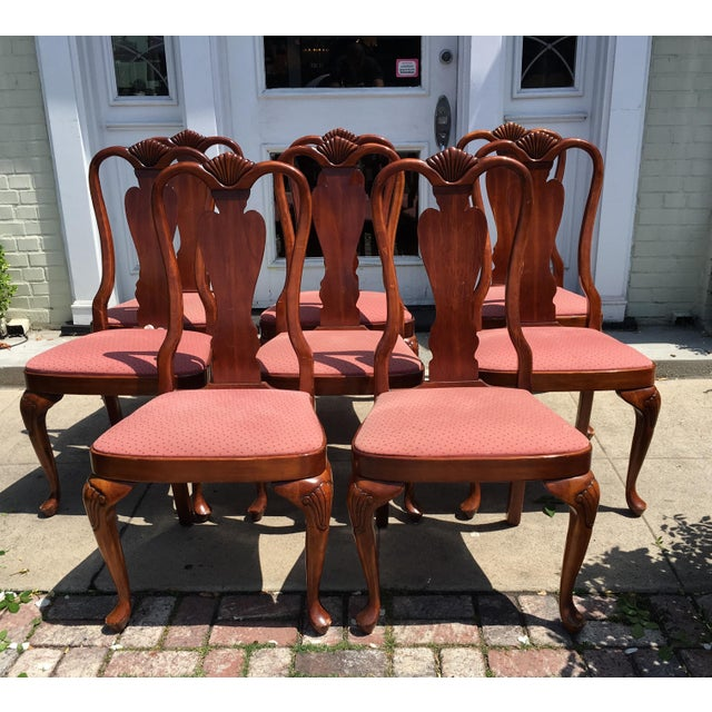 Queen Anne Style Mahogany Dining Chairs - Set of 8 - Image 2 of 7
