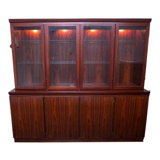 Skovby Danish Modern Rosewood Display Case/Buffet