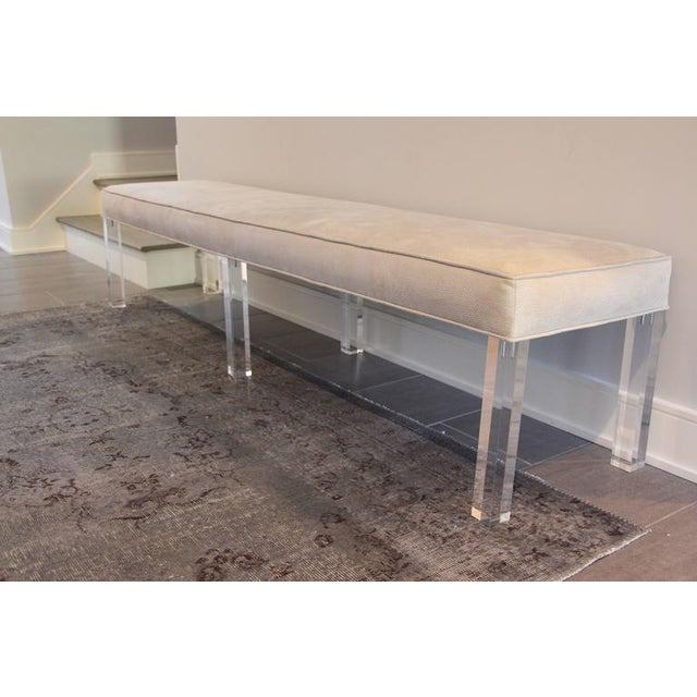 Long Lucite Bench - Image 2 of 4