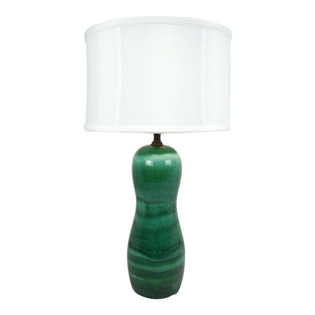 1960s Mid-Century Drip Glaze Lamp - Image 1 of 7