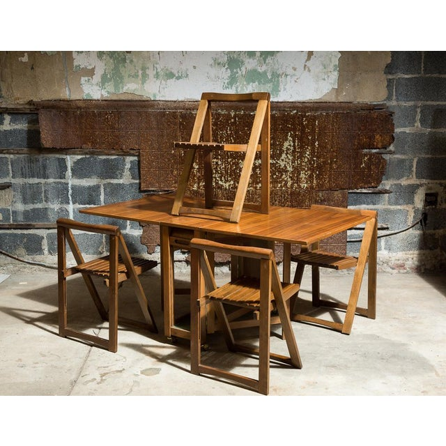 Image of Drop Leaf Veneer Dining Set
