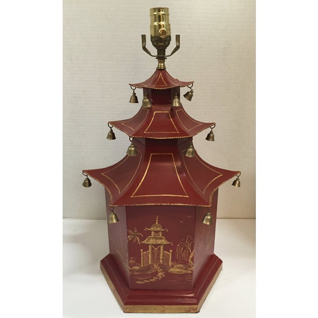 Chinoiserie Pagoda Table Lamp - Image 2 of 8