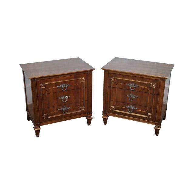 John Widdicomb Painted French Style Nightstand - 2 - Image 1 of 8