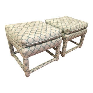 Parsons Style Ottoman - Pair