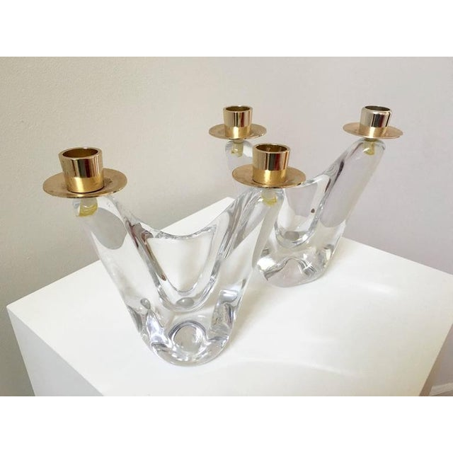 Image of Schneider French Crystal Candlesticks - A Pair