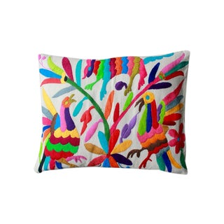 Colorful Tenango Pillows - Pair