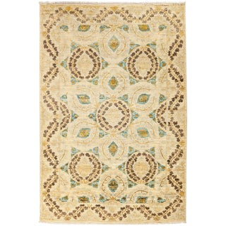 """Suzani, Hand Knotted Area Rug - 4' 1"""" X 5' 10"""""""