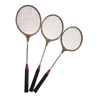 Old Scorpion Badminton Racquets Decor - Set of 3