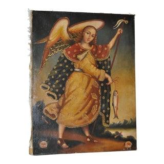 """Vintage Devotional Mexican Folk Art """"St. Peter"""" c.1960s"""