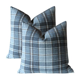 Ralph Lauren Dark Grey Plaid Pillow Covers - A Pair