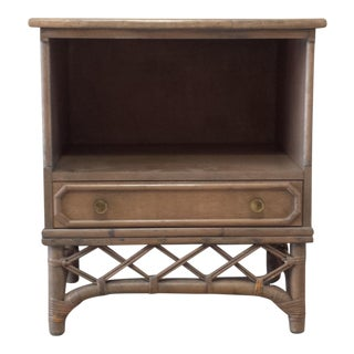 Ficks Reed Rattan Bamboo Nightstand