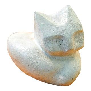 Margot Kempe Mid-Century Brutalist Stoneware Cat