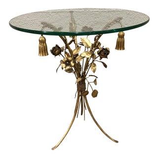 Italian Style Regency Gilt Tassel Table