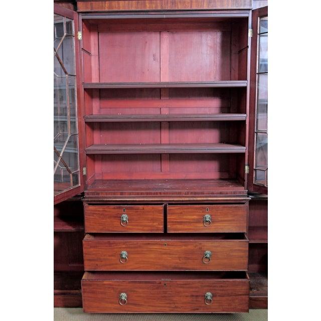 Elegant Period George III Mahogany Breakfront Bookcase - Image 5 of 11