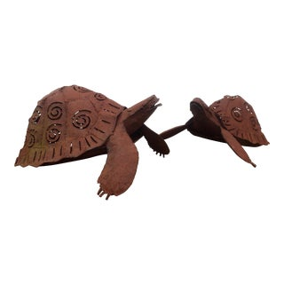 Sea Turtle Candle Lit Sculptures - A Pair