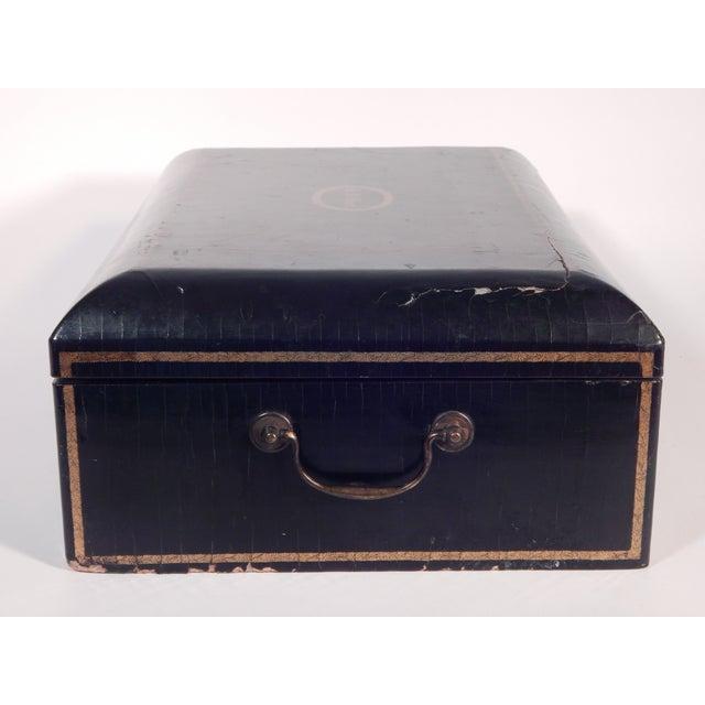 Antique 19th Century Black Lacquered Box - Image 5 of 5