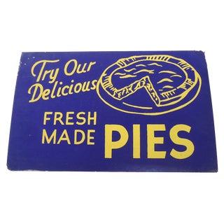 "40s ""Pies"" Diner Sign"