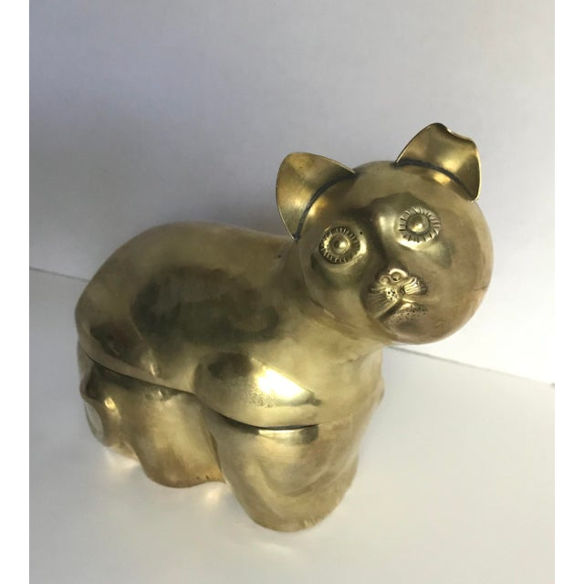 Brass Cat Figural Box - Image 3 of 5