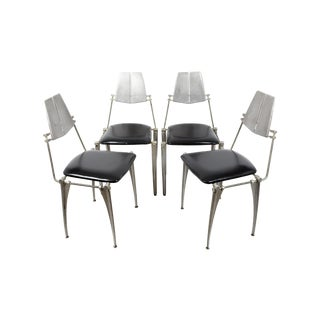 Robert Josten Cast Aluminum Chairs - Set of 4