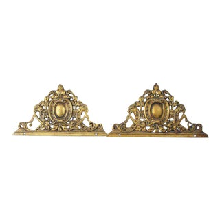 Bronze Ornate Furniture Castings - A Pair