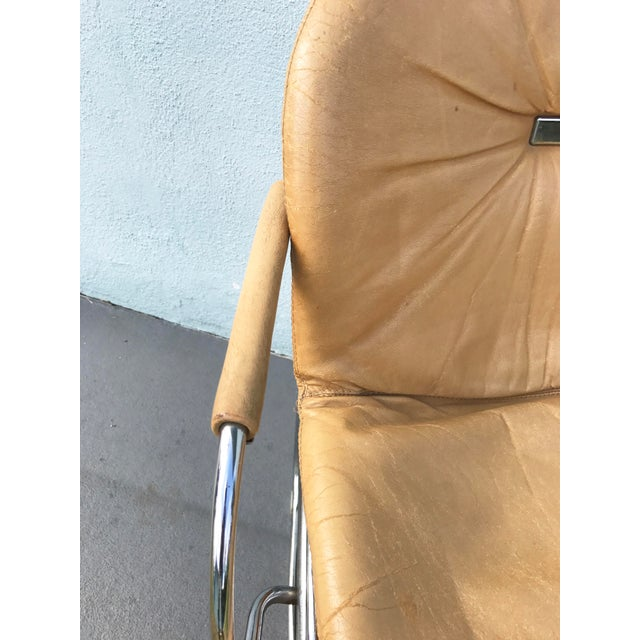1970s Gastone Rinaldi for Rima Linea Chrome Tubular Chairs - A Pair - Image 6 of 9