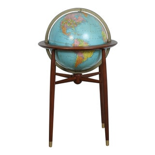 Mid-Century Walnut Lighting Globe