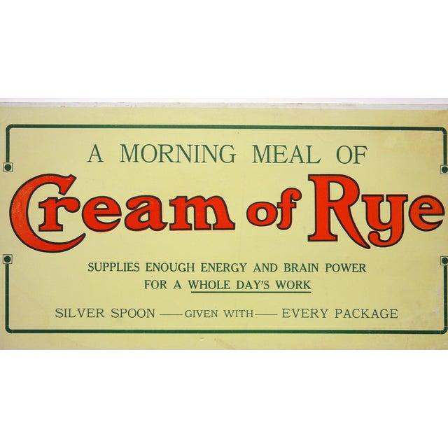 Cream of Rye Sign, Circa 1910 - Image 2 of 4