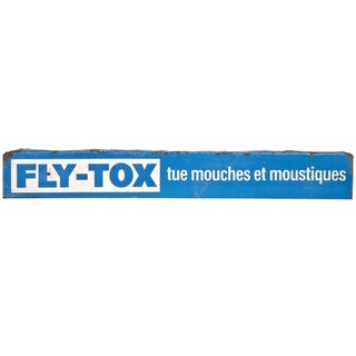 Vintage French Metal Fly-Tox Sign