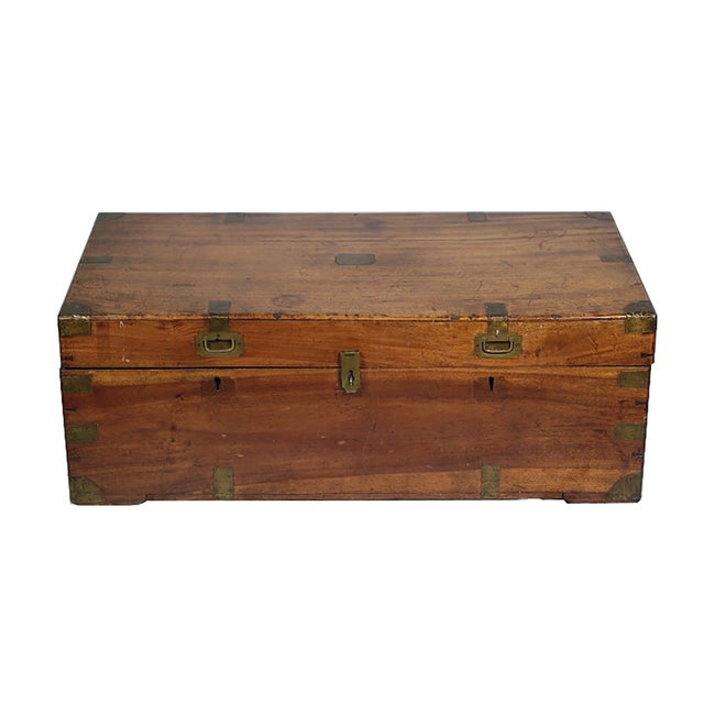 Early 19th Century Walnut and Brass Trunk - Image 2 of 10