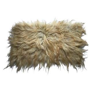 """Handmade Natural Wool Shaggy Tulu Rug - 4'2"""" X 2'7"""""""