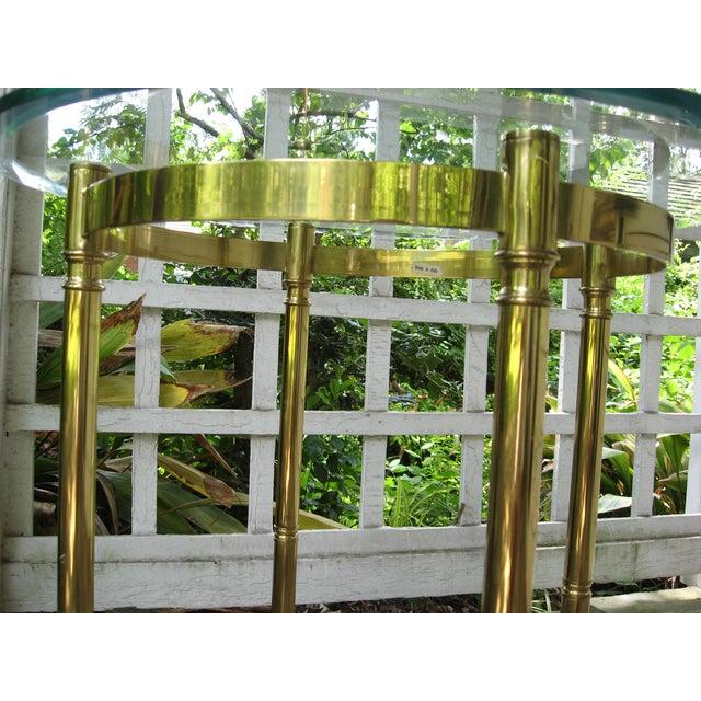 Vintage Brass LaBarge Table - Image 6 of 8
