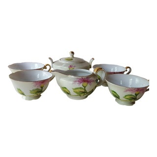 Japanese Hand Painted Tea Set - Set of 6