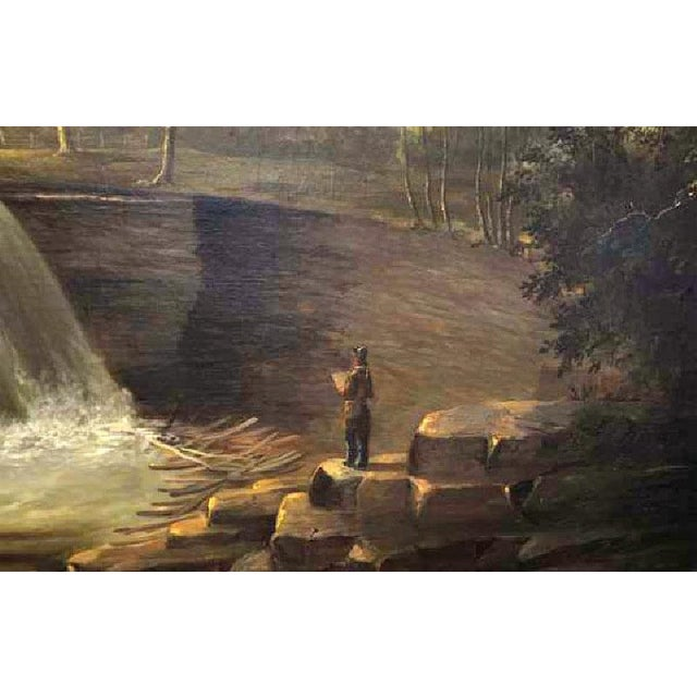 Image of Painting of Cascading Falls - A. Andrews