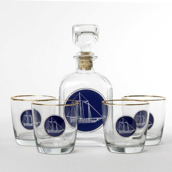 "Image of ""America's Cup"" Richard Bishop Decanter Set"