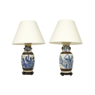 Vintage Chinese Export Lamps - A Pair