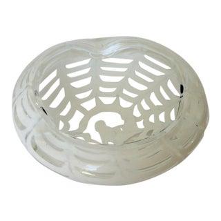 Barovier Italian Murano Opalescent White Spider Bowl