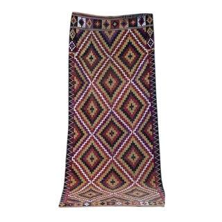 "Vintage Persian Kilim Handmade Rug - 5'11'' X 14'6"""
