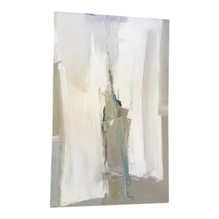 """Latitude"" Abstract White Painting"