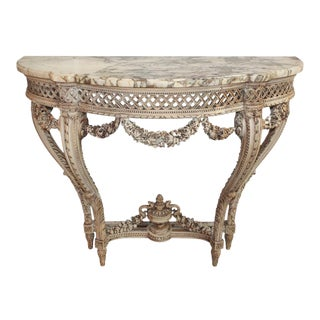 French Carved Louis XVI Console