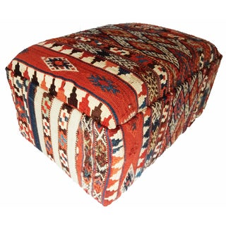 19th-C. Tribal Azeri Kilim Ottoman