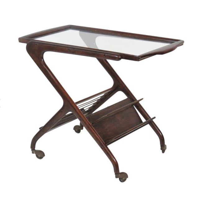 Ico Parisi Style Bar Cart - Image 2 of 4