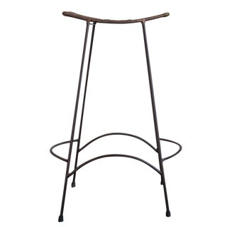 Arthur Umanoff Wicker Counter Bar Stool