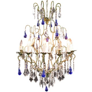 Maria Theresa Style 12-Arm Chandelier Blue