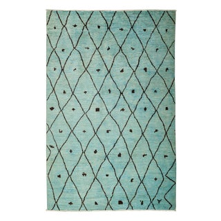 "Moroccan, Hand Knotted Area Rug - 5'10"" X 9'0"""