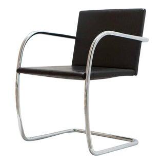 Antique Black Leather & Chrome Chair