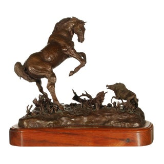 MOTHER TROUBLE Bronze Horse and Foal Sculpture