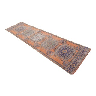 "Distressed Oushak Rug Runner - 2'11"" x 10'11"""