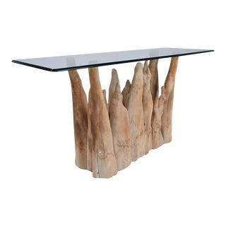 Michael Taylor Sculptural Wood Sofa Table