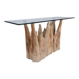 Michael Taylor Sculptural Wood Sofa Table